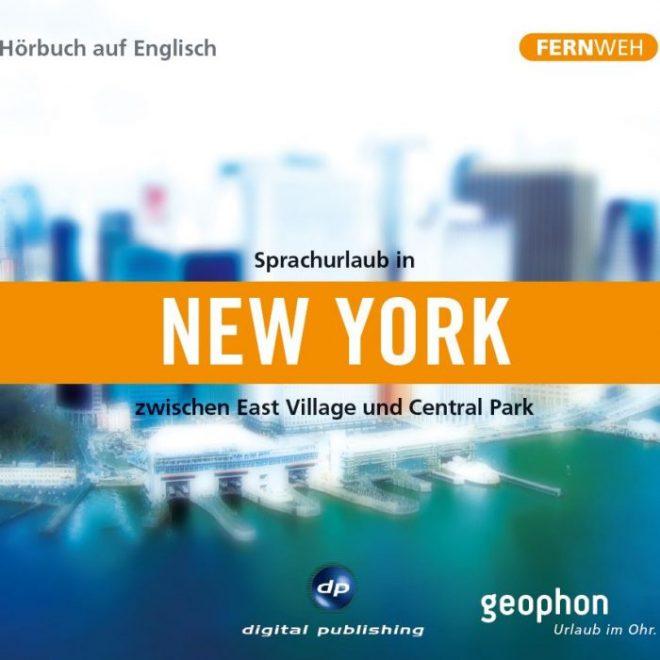 Cover vom geophon Hörbuch über New York zum Sprachen lernen.
