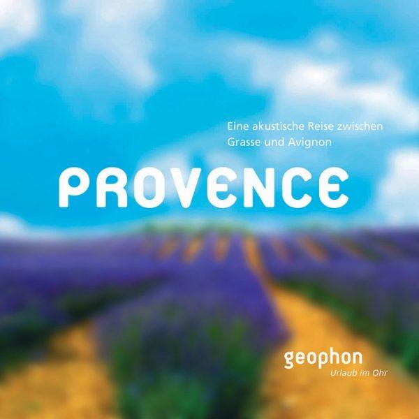 Hörbuch Cover der geophon Produktion über die Provence.