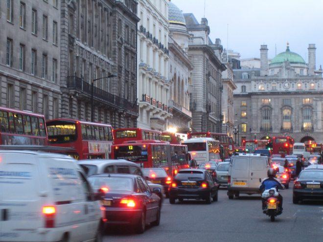 geophon audioguide london straße mit viel verkehr.